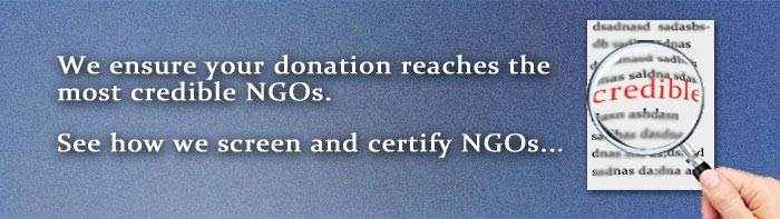 How do NGOs get listed on GiveIndia ?