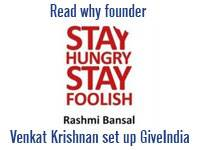Read why venkat set up giveindia